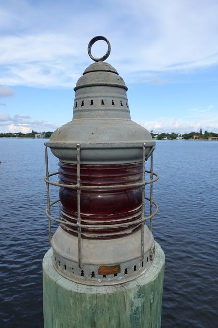 Vintage Perko Anchor Lantern-Large Rens Lens