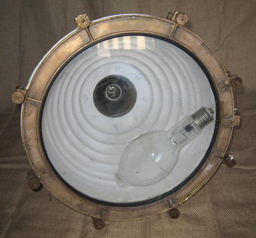 Copper cargo light inside painted white