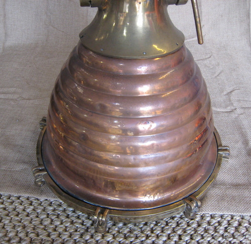 Vintage copper ship hanging light