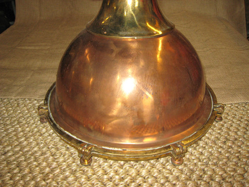 vintage copper smooth fox nautical light