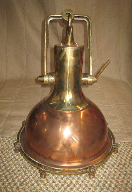 vintage smooth copper nautical hanging light