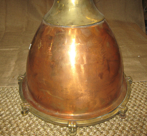 smooth polished copper ship light