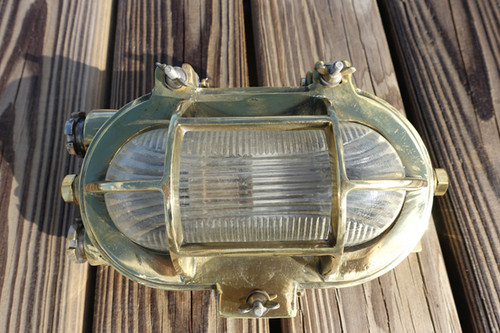 brass oval bulkhead light