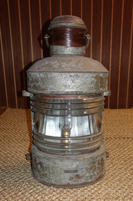 large galvanized old ships lantern