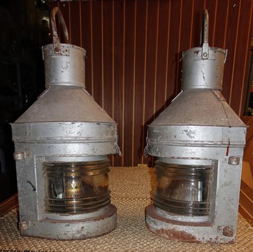 rustic galvanized nautical lights