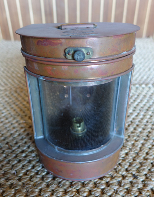 Vintage copper Hop Lee nautical light