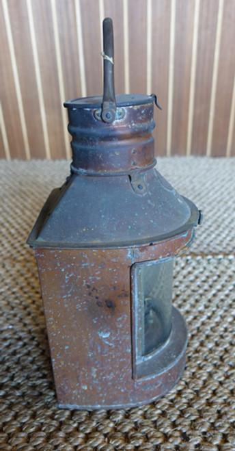 rustic copper ship's nautical lantern