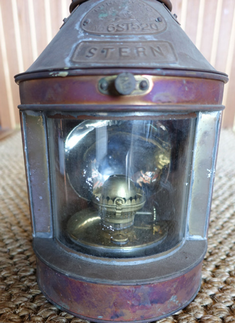 Vintage copper ship light