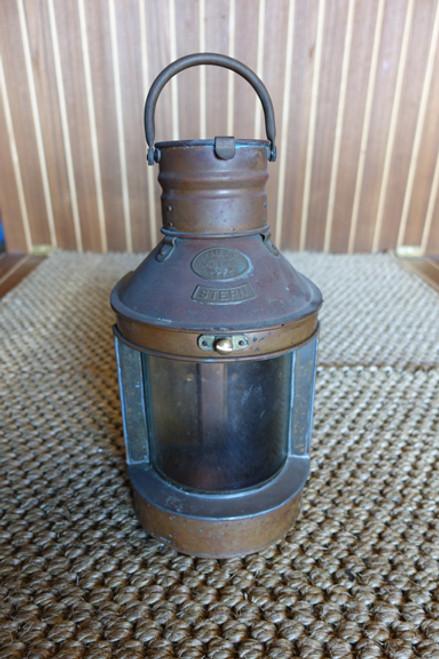 vintage copper nautical ship light