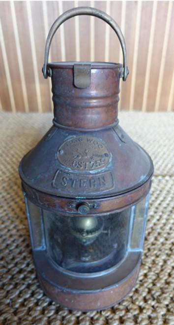 vintage copper nautical marine light