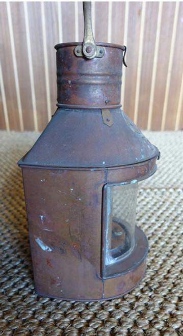 patina copper nautical ship's light