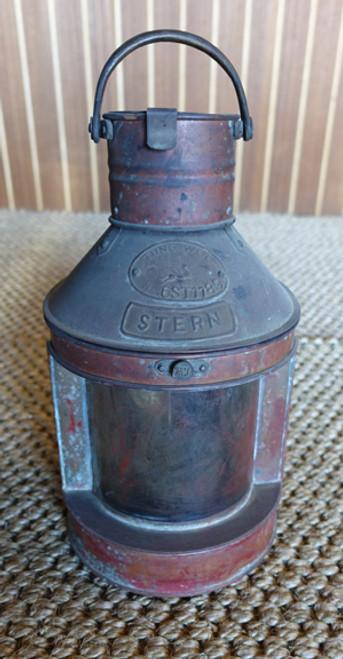 Vintage copper nautical ship lantern