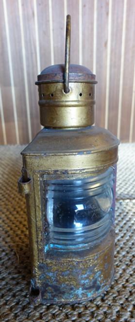 vintage nautical bi color ship's lantern