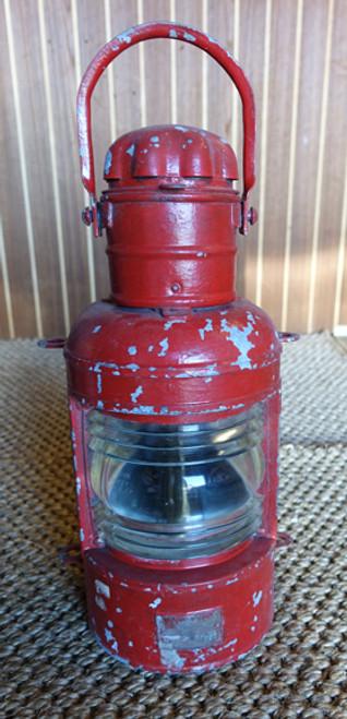 Vintage ships rustic red light