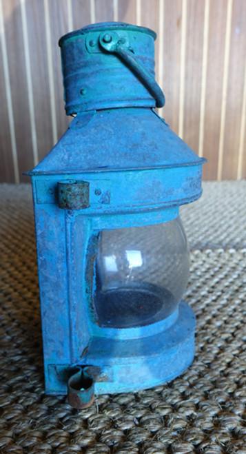 vintage small ships lantern
