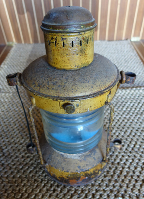 vintage nautical ship's lantern.