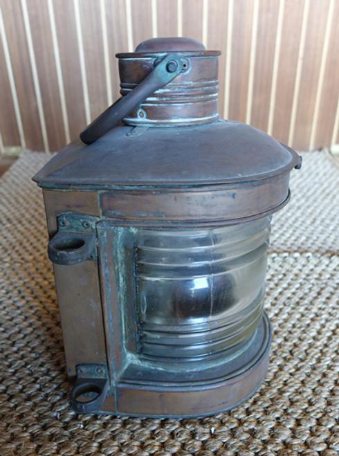 Vintage patina copper nautical light