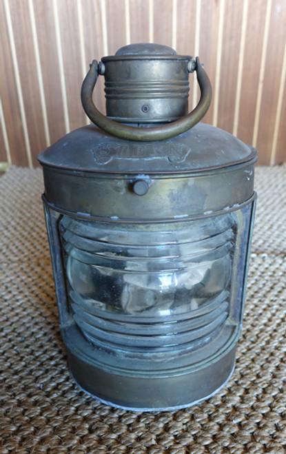 """Brass """"Stern"""" wall mount nautical lantern"""