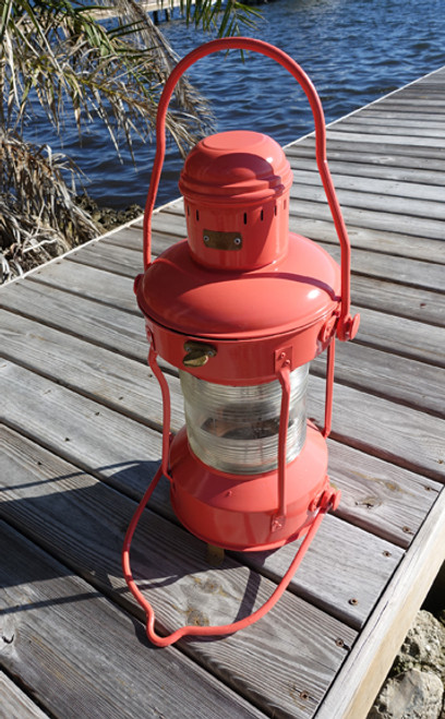 Coral painted ship light