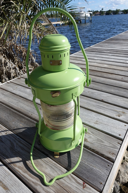 Satin Green Anchor light