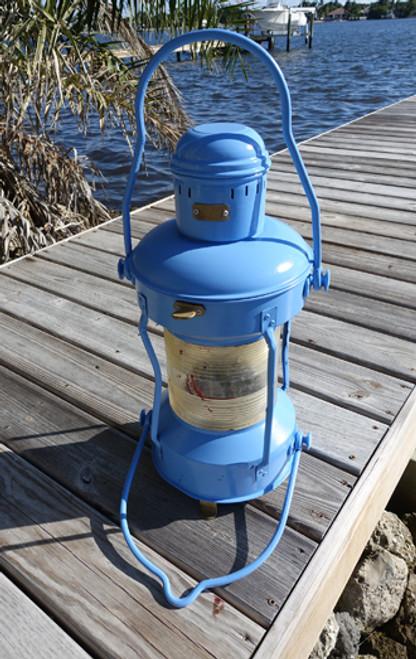 Spa Blue Nautical Anchor Ship's Light