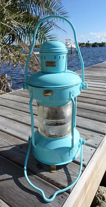 Turquoise Nautical Anchor Ship's Light