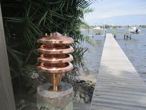 copper hooded landscape light