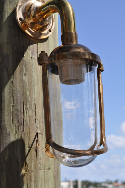 bronze wall mount dock light