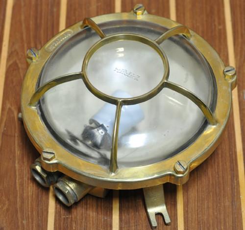 Brass bulkhead ship light
