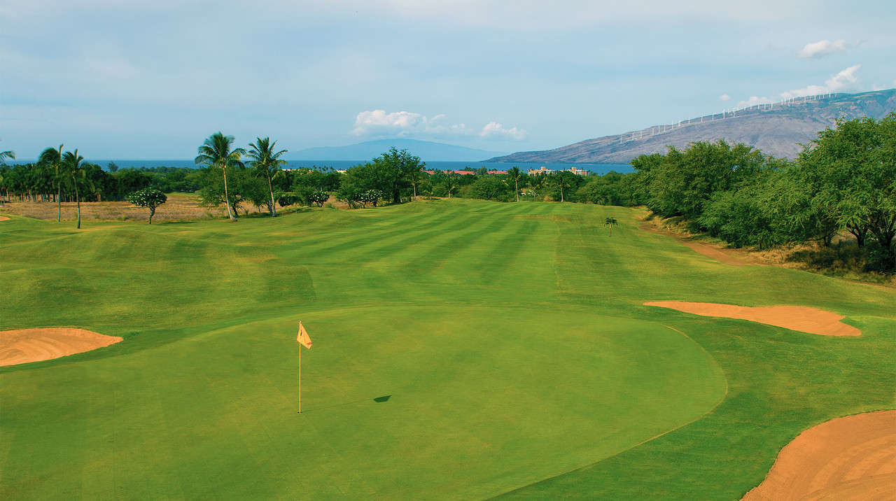 Maui Nui Golf Course | Enjoy large fairways with lakes, palm trees and ocean views | SAVE with the Maui Golf Shop.