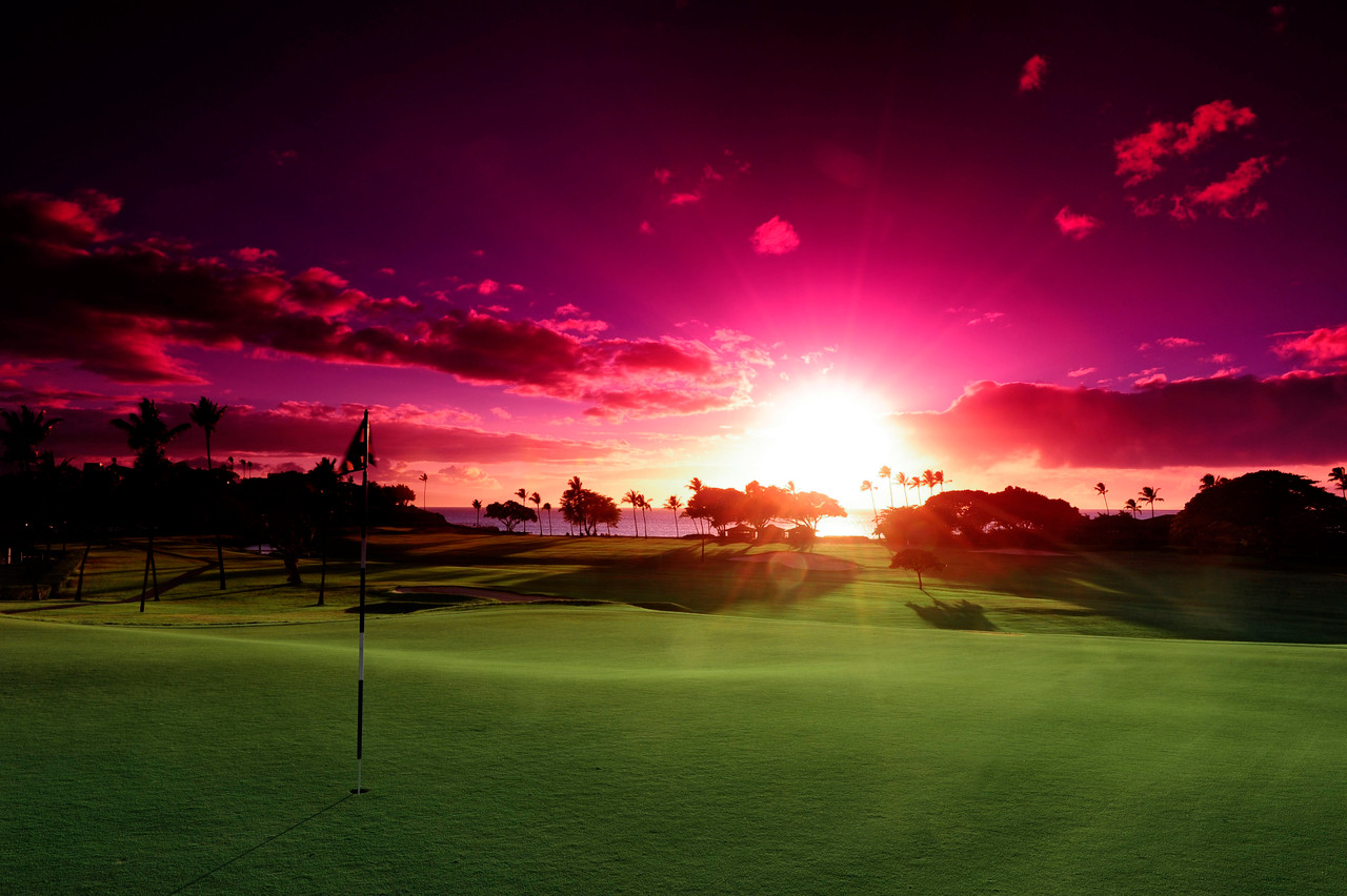 Kaanapali Kai Golf Course | Enjoy amazing West Maui sunsets while playing golf on Maui in Kaanapali | Book with the Maui Golf Shop to SAVE on Maui Golf.