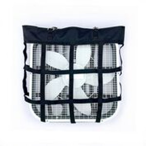 "Strong durable webbing Accommodates a 21 3/4"" x 20 "" Fan Allows you to reposition fan as needed"