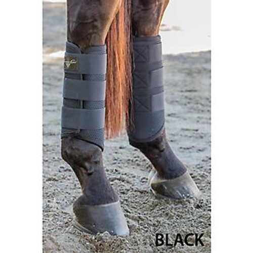 Constructed of German quality BADSF TPU  Hypoallergenic, non slip fit Will not retain water or become water logged Outstanding protection for fetlock area while providing optimum support Stong velcro closure adjusts to fit most legs