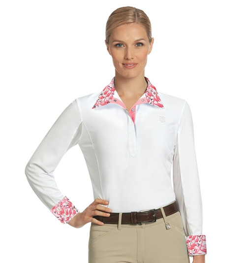 Classic Equestrian Look Chill factor cooling material Fun prints on collars and cuffs
