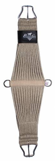 All natural fibers are strong,soft and have natural elasticity Hardware is stainless steel, will not rust and are reinforced  * Due to natural fiber of this item, it will initially be smaller than sized.  Upon usage, it will stretch to correct size.