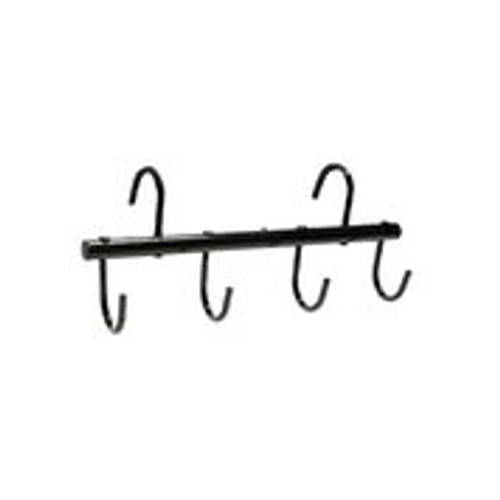 Features 4 individual tack hooks Vinyl coated  Excellent for horse shows and while traveling