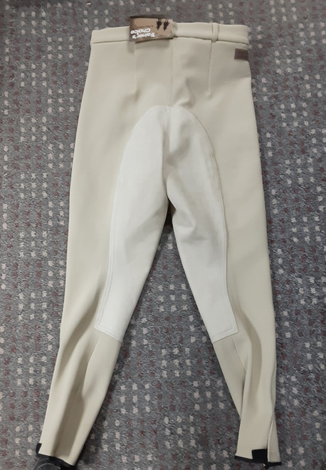 "Trainer's Choice ""Colette"" Synthetic Full Seat Low Rise Breeches- Beige"