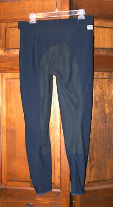 "Trainer's Choice ""Colette"" Synthetic Full Seat Breeches- Navy"
