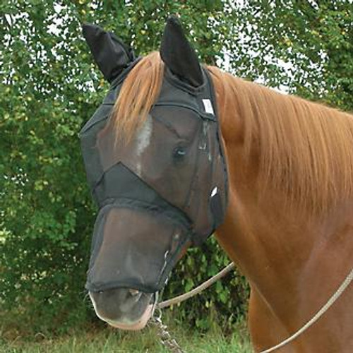 Cashel Crusader Quiet Ride Fly Mask with Ears (& Long Nose)