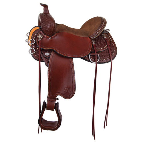 "Circle Y Reno Flex2 Trail Saddle- 16"" Wide Tree Brown"