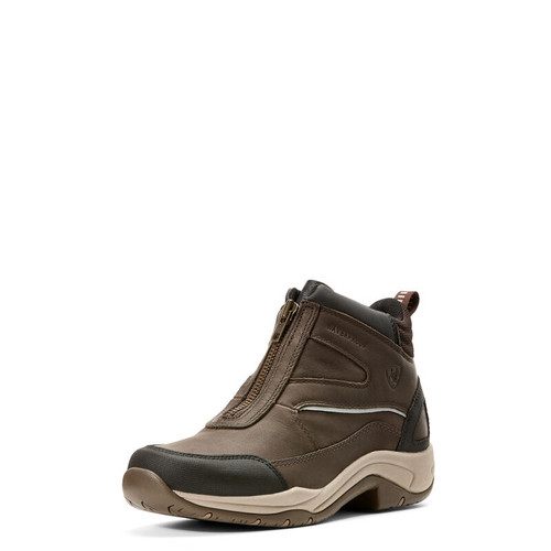 WOMEN'S ARIAT TELLURIDE ZIP H2O BOOT- DARK BROWN