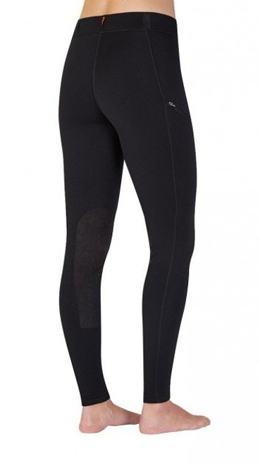 KERRITS WOMEN'S POWER STRETCH KNEE PATCH POCKET TIGHT- BLACK