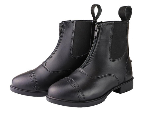 Grewal Equestrian Children's Synthetic Zip Up Paddock Boots