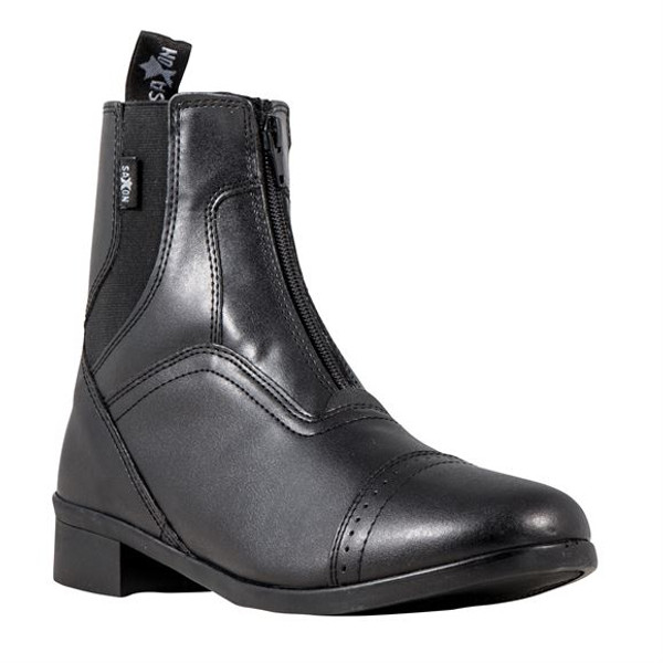 Features quality grained synthetic leather YKK zipper for durability EVA footbed for comfort Hard earing rubber outsole