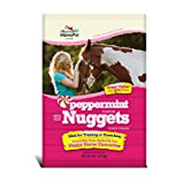 Bite sized peppermint flavor nuggets Happy Horse Guarantee!