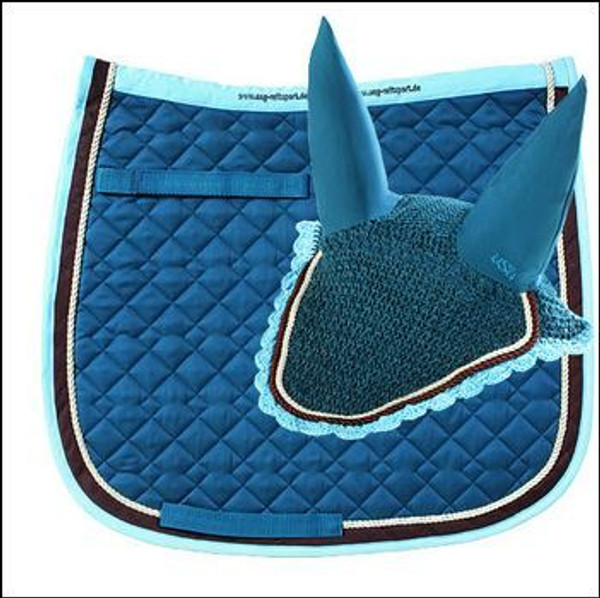 100 % cotton fill full dressage pad quilted body Optional matching fly veil available