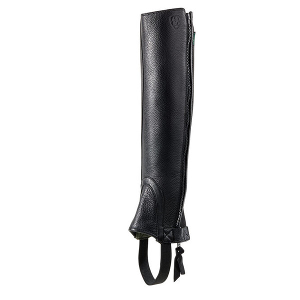 Exceptional soft yet washable chaps Elastic back panel for glove like fit Side zip: top to bottom