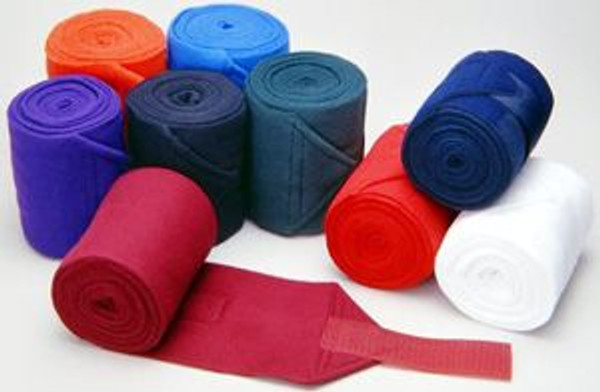 """Fluffy anti pill fleece wraps Provide protection as well as support 4.5""""x 9 feet in length w/ Velcro closure Offered in a variety of colors"""
