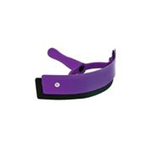 Compact curved design Features a flexible rubber edge that conforms to horse's  body Available in an array of colors