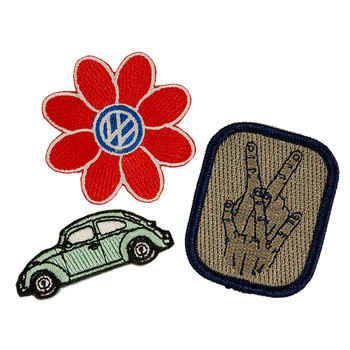 VW Volkswagen Beetle Heritage Patch Set